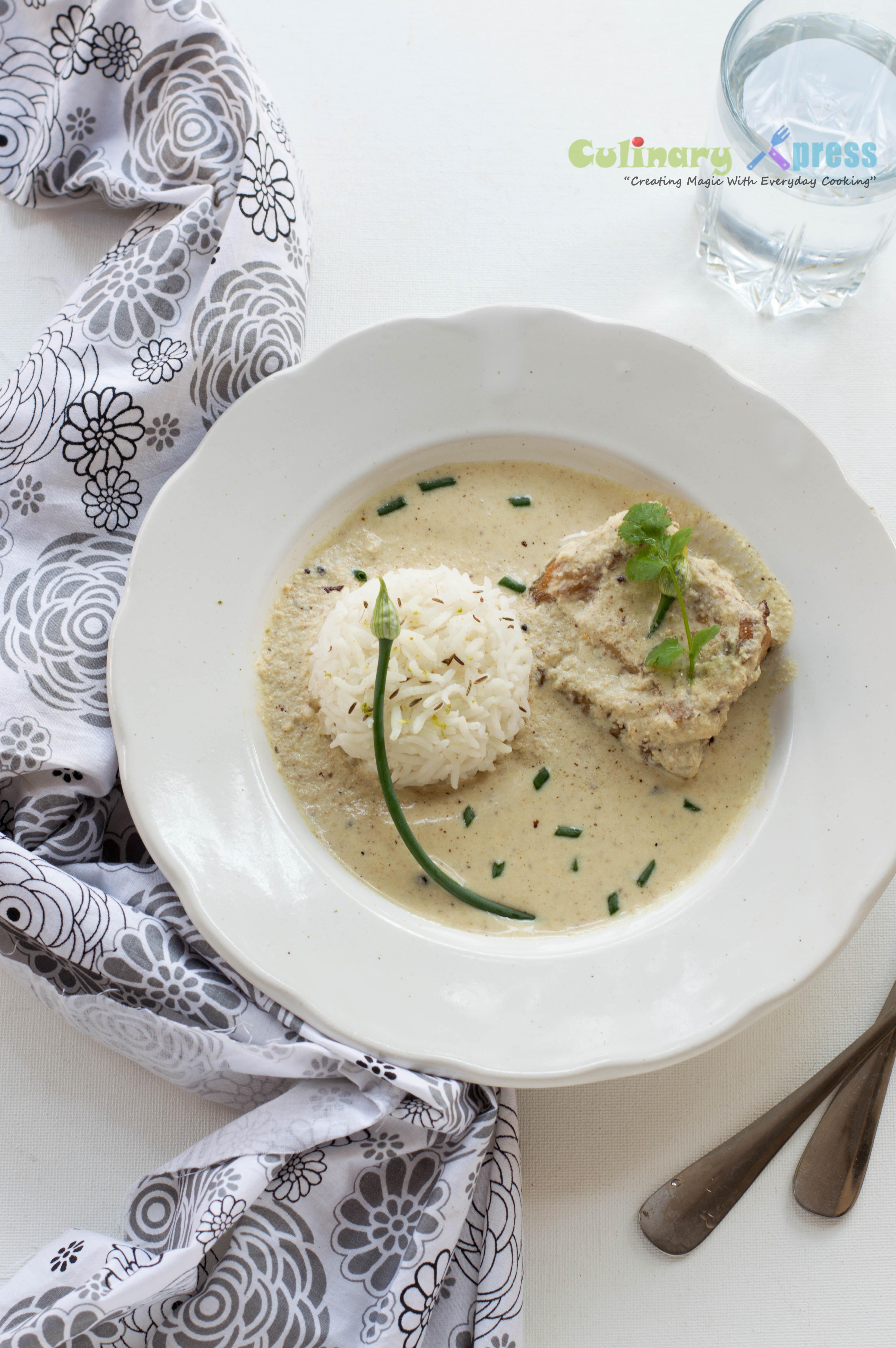 Fish in White Sauce